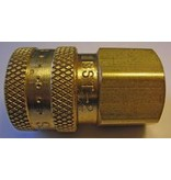 """PARKER High Flow (Unvalved) Quick Coupler 1/4"""" Female Pipe Threads"""