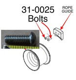 """PORTABLE WINCH CO. Button Head Cap Screw, 1/4-20"""" x 3/4"""" - SS fits ROPE GUIDE FOR CAPSTAN DRUM, 31-0025"""
