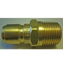 "PARKER High Flow (Unvalved) Quick Nipple 1/2"" Male Pipe Threads"