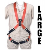 "Bashlin Full Body Harness, 683XC Series: ""X"" Style, Large"