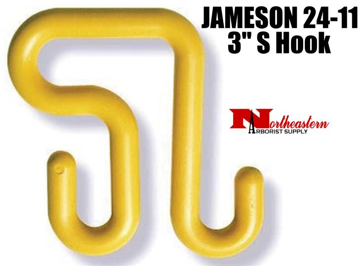 """Jameson S Hook, 3"""", to hang Tool Trays and Bags on bucket"""