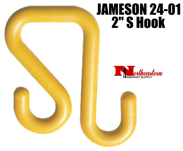 """Jameson S Hook, 2"""", to hang Tool Trays and Bags on bucket"""