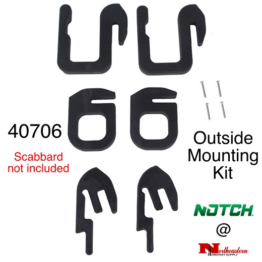 NOTCH Chainsaw / Bucket Scabbard outside mounting kit - Only
