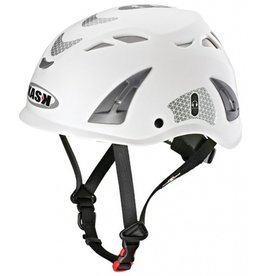 KASK White Hi-Viz Kask Plasma Work Helmet w/ Adapter for Ear Defenders