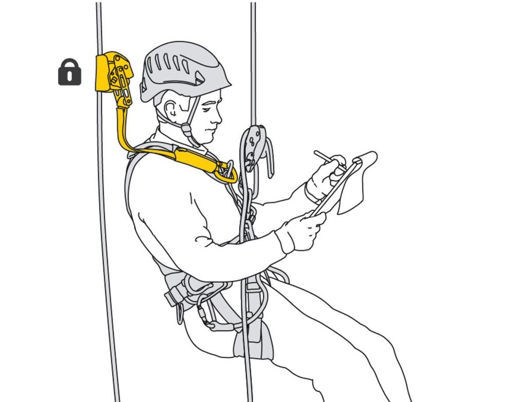 Petzl ASAP® LOCK, Mobile fall arrester with locking function