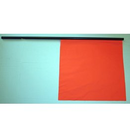 "Work Area Protection FLAG, Traffic Warning 18"" x 18"" with 36'' Staff"