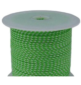 All Gear Inc. Bull's Eye™ Slick Arborist Throw Line, 2.5mm x 180' Neon Green Polyethylene, and White Dyneema®