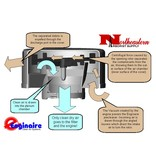 """Enginaire Enginaire, Aluminum Precleaner with Stainless Steel Rotor 7"""" ID"""