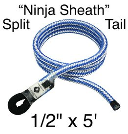 "Spyder Manufacturing Split Tail ""Ninja Sheath"" 1/2"" x 5' (60"") Blue & White"