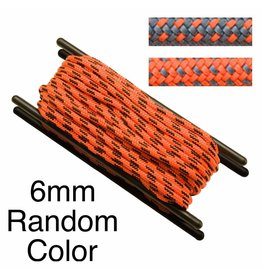 Teufelberger Accessory Cord, Polyester, 6mm, Random Color, per Foot 1,550# MBS