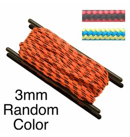 Teufelberger Accessory Cord, Polyester, 3mm, Random Color, per Foot 300# MBS