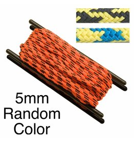 Teufelberger Accessory Cord, Polyester, 5mm, Random Color, per Foot 1,070# MBS