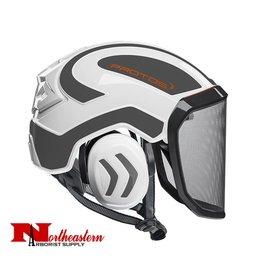 PROTOS Integral Arborist Helmet, White and Gray