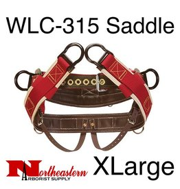 "Weaver Saddle, WLC-315 with 1"" Heavy-Duty Coated Webbing Leg Straps, Extra Large"