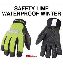 Youngstown Gloves Hi-Viz Safety Lime Waterproof Winter