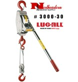 LUG-ALL Model 3000-30, 1+1/2 Ton Cable Hoist