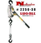LUG-ALL Model 2250-38, 1+1/8 Ton Cable Hoist