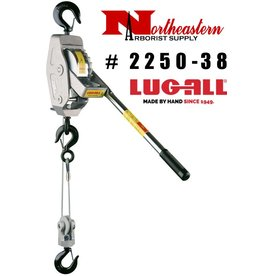 LUG-ALL Model 2250-38, 1+1/8 Ton Cable Hoist