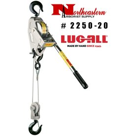 LUG-ALL Model 2250-20, 1+1/8 Ton Cable Hoist