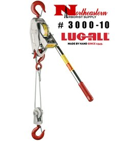 LUG-ALL Model 3000-10, 1+1/2 Ton Cable Hoist