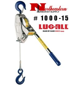 LUG-ALL Model 1000-15, 1/2 Ton Cable Hoist