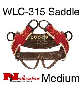 "Weaver Saddle, WLC-315 with 1"" Heavy-Duty Coated Webbing Leg Straps, Medium"
