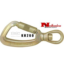 """ISC Carabiner, Swivel Eye with """"Supersafe"""" Gate"""