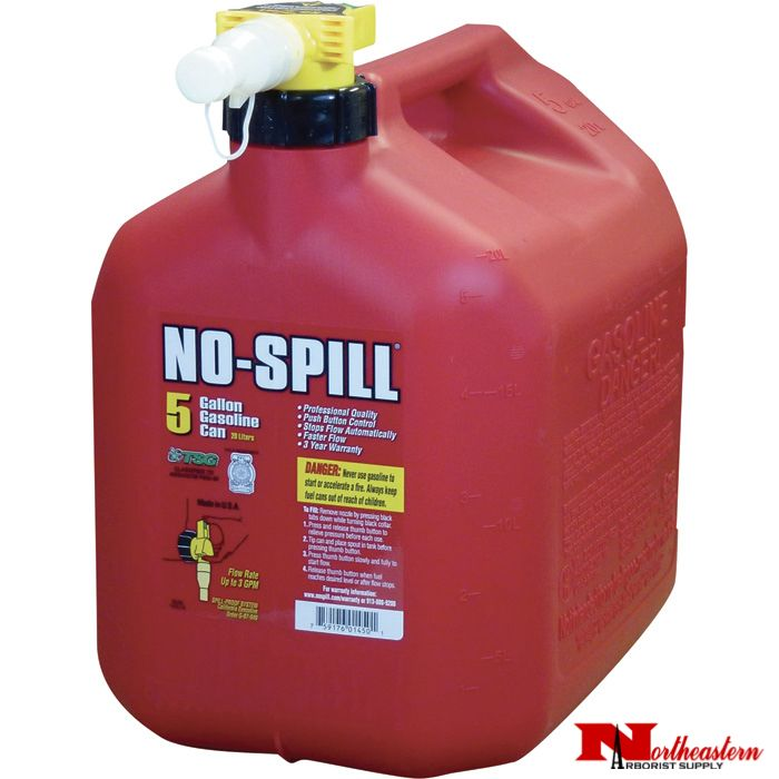 NO-SPILL® Red 5 Gallon Gas Can #1450