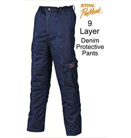 "STIHL® Chain Saw Protective Pants ""Denim"" 9-Layer"