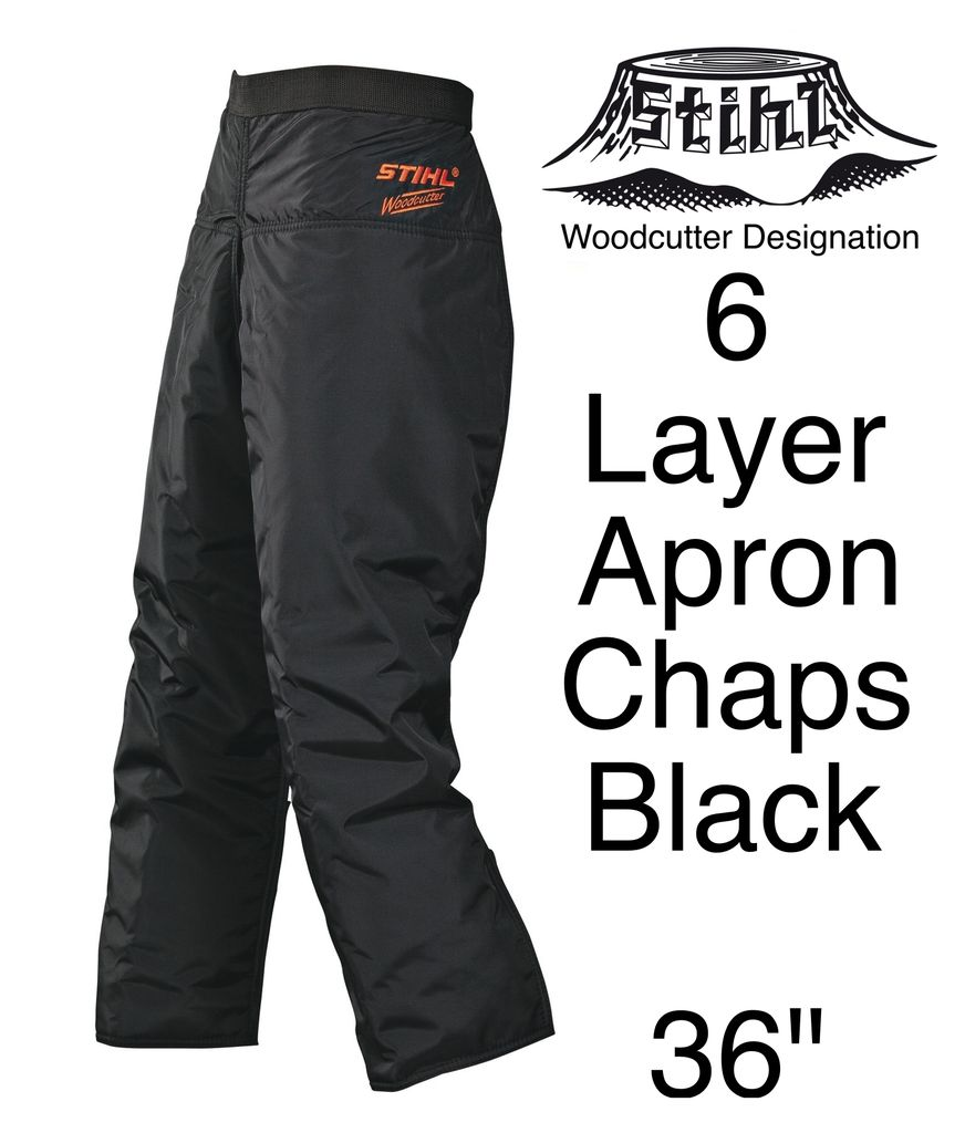 "STIHL® Woodcutter Apron Chaps, 6-Layer, Black, 36"" Length"