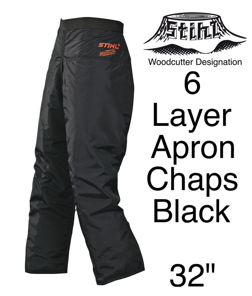 "STIHL® Woodcutter Apron Chaps, 6-Layer, Black, 32"" Length"