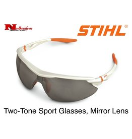 STIHL® Two-Tone Sport Protective Glasses with Silver Mirror Lens