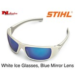 STIHL® White Ice Glasses with Blue Mirror Lens