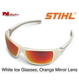 STIHL® White Ice Glasses with Orange Mirror Lens