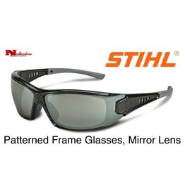 STIHL® Patterned Frame Glasses with Silver Mirror Lens