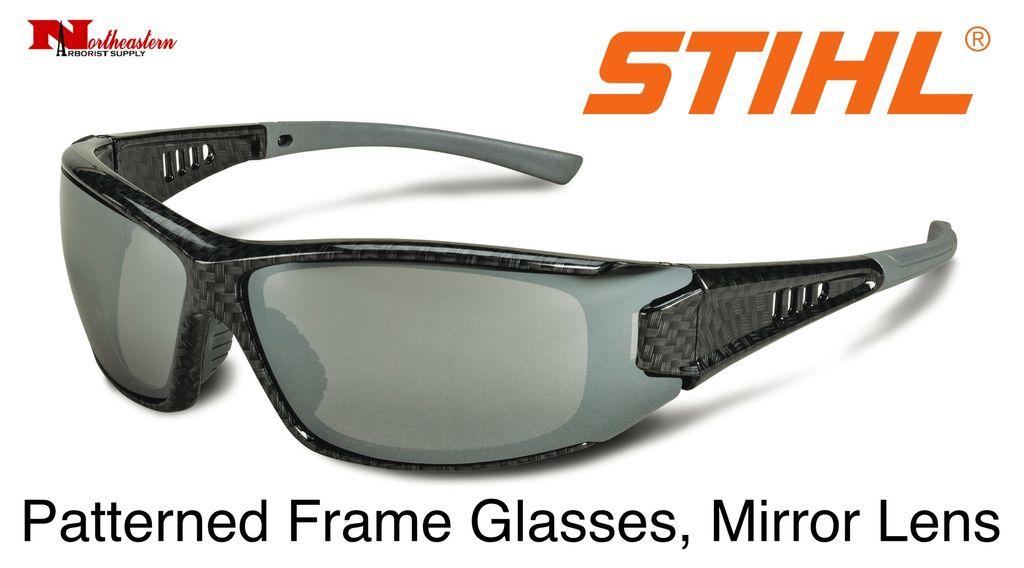 STIHL® Patterned Frame Glasses Silver Mirror