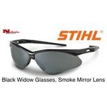 STIHL® Black Widow Safety Glasses with Smoke Mirror Lens