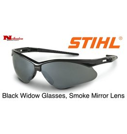 STIHL® Black Widow Safety Glasses with Smoke Mirror Lens