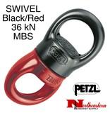 Petzl Swivel, Large Ball Bearing Black and Red