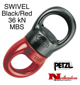 Petzl Swivel, Large with Ball Bearing, Black and Red
