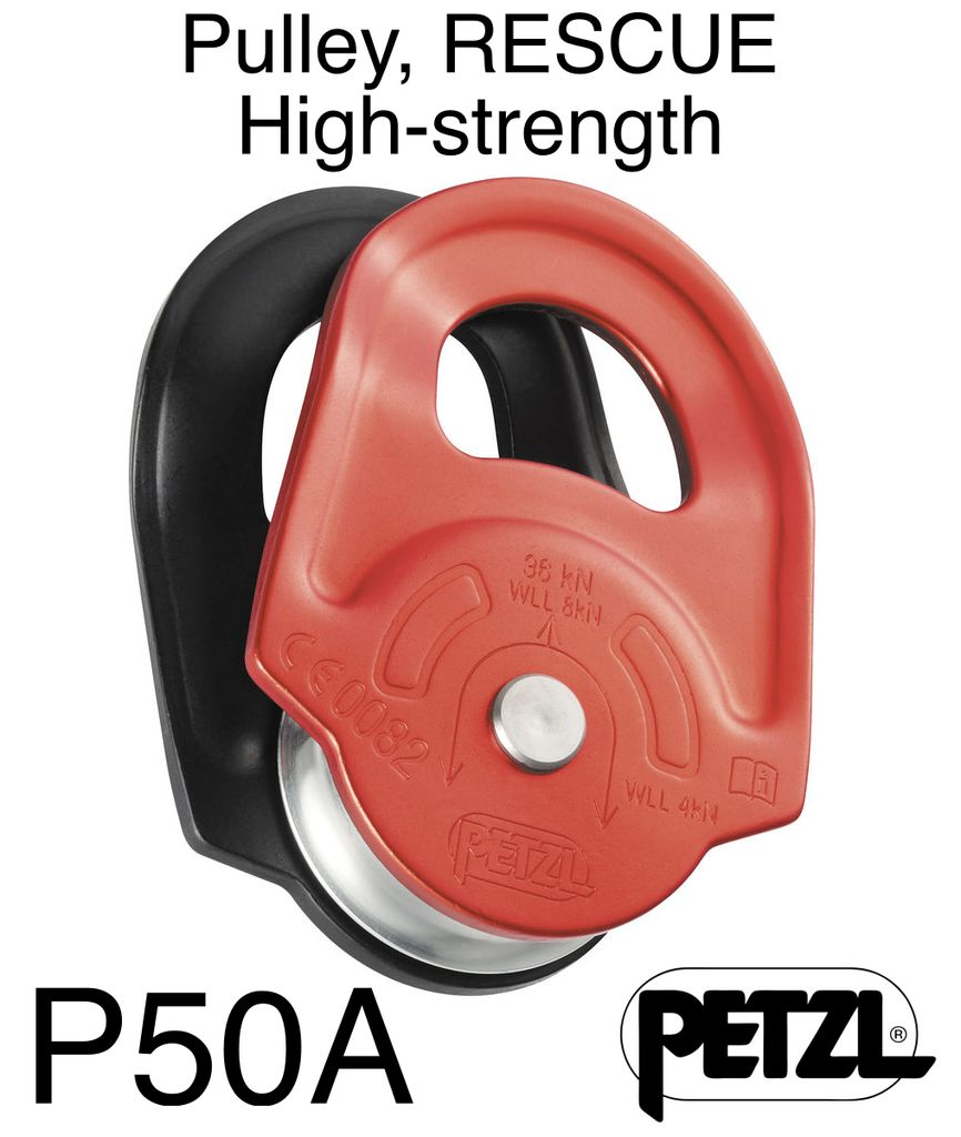 Petzl Pulley, RESCUE High-strength with swinging side plates