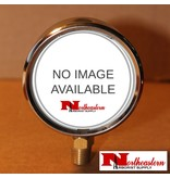 "Hypro® Gauge 0-100 PSI, Filled, Stainless Case 1/4"" NPT Base Mount"