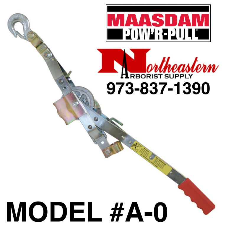 """MAASDAM POW'R-ROPE PULLER® for 1/2"""" Rope,  3/4 Ton Capacity with a 10 to 1 Leverage"""