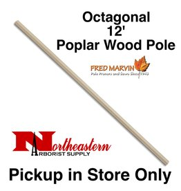 "Fred Marvin Pole, 12' Poplar Wood, 1+¼""Octagonal"
