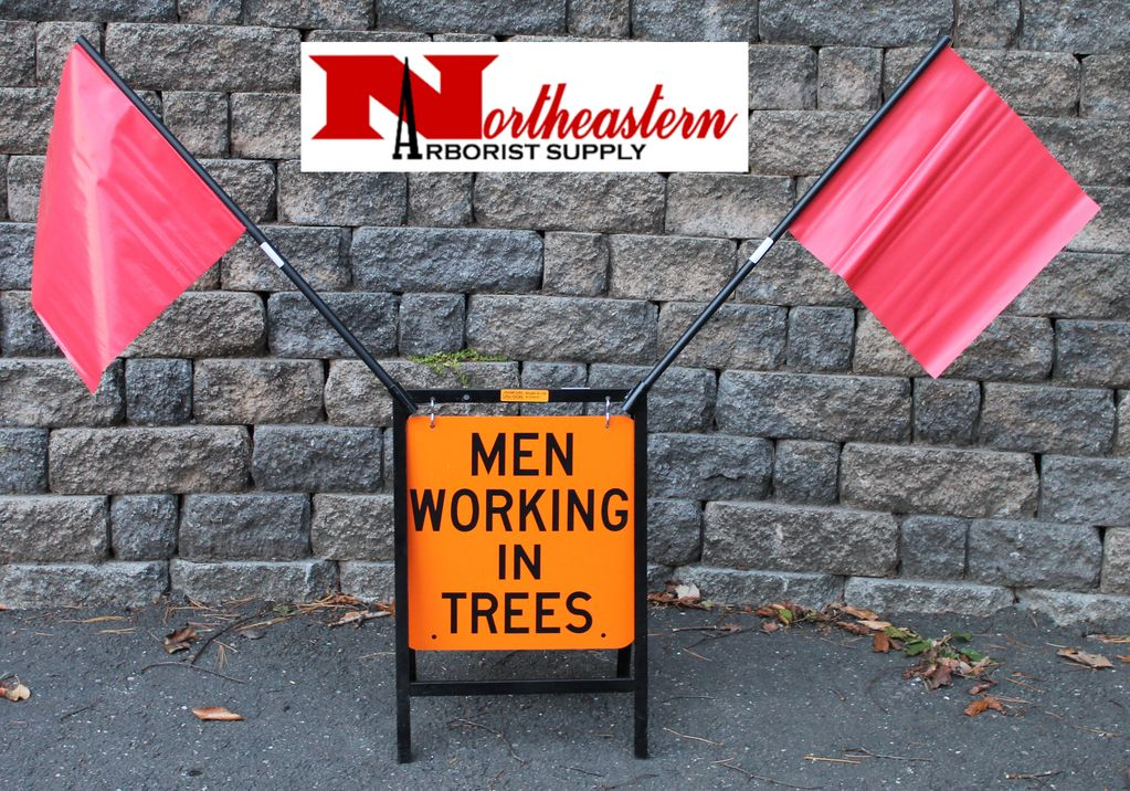 "USA-SIGN® Sign Kit 18""  ""Men Working in Trees"""