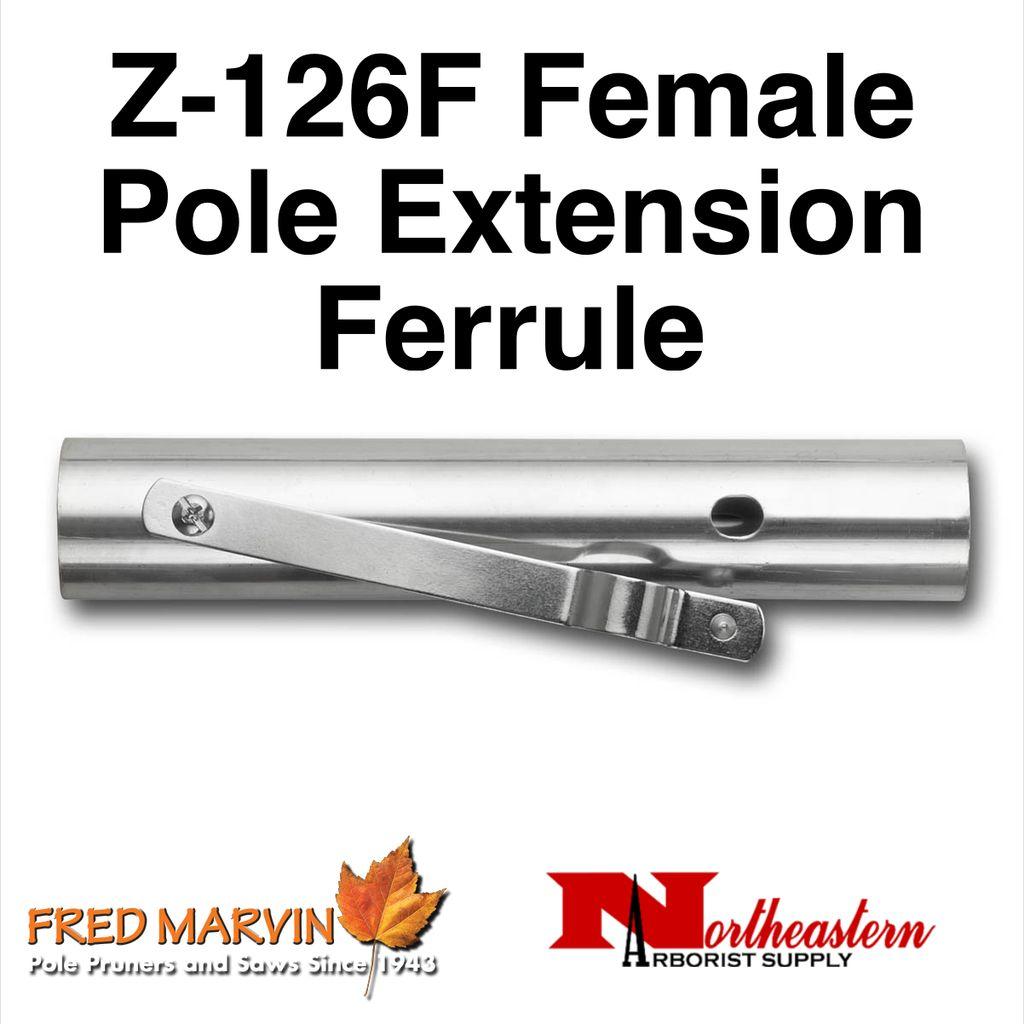 """Fred Marvin Z-126F Pole Extension Ferrule,  """"Female"""""""