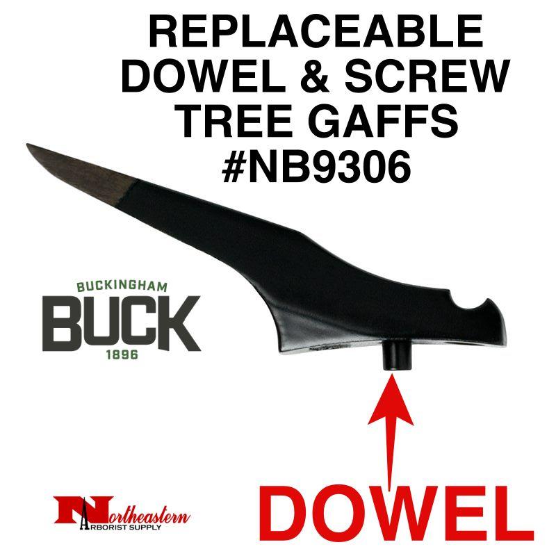 Buckingham Climber, Replaceable dowel & screw tree gaffs