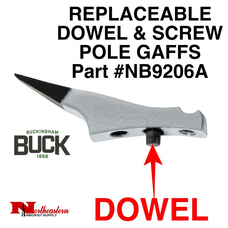 Buckingham Climber, Replacement POLE Gaffs, Screw Style (with Dowel) NEWEST