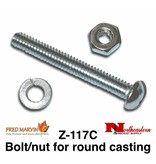 Fred Marvin Nut & Bolt to attach head to Pole Z-117C