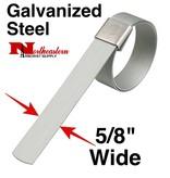 "DIXON Galvanized Carbon Steel Center Punch Clamps 5/8"" wide x 1+1/4"" diameter"